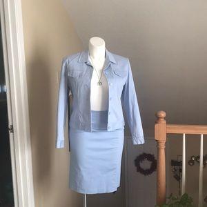 2 Piece Light Blue Suit - Size 8/10